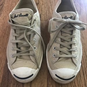 Converse Jack Purcell sneakers. Tan. Size 7 1/2